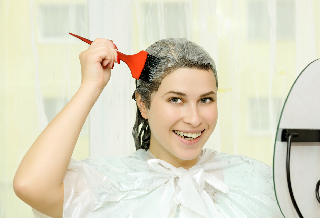 Haare Färben Kosmetik Transparent